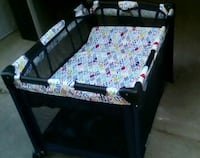 black and white travel cot Maple Ridge, V2X 5X4