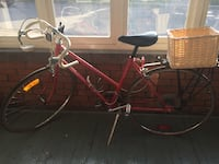 red commuter bicycle