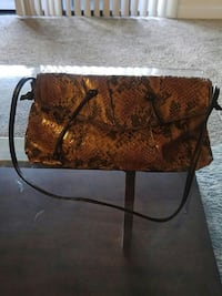 brown snake skin crossbody bag