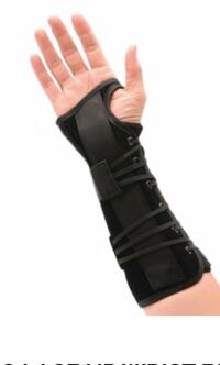 LONG LACE UP LEFT WRIST BRACE - Size Small Mississauga, L5A 3B2