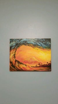 brown and black abstract painting Virginia Beach, 23452