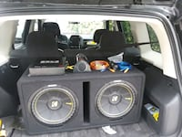 black and gray Kicker subwoofer Fort Myers