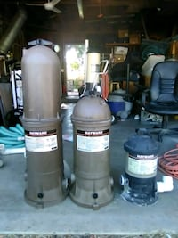 2 Hayward pool filters and 1 separation tank Palm Springs, 92262