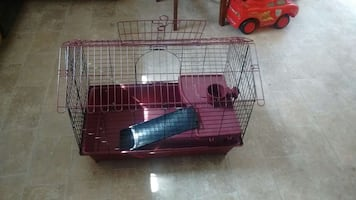 pink wire pet cage