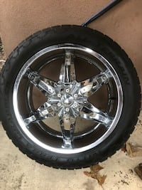 "22"" Dakar wheels and tires."