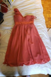 Coral Bari Jay Bridesmaid's dress Pointe-Claire, H9R 5R8