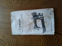 Antique Singer Sewing machine manuel Indianapolis, 46227