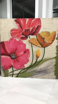 red and white flower painting Surrey, V3W