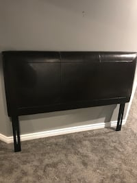 Queen brown leather headboard  Barrie, L4N 0V2