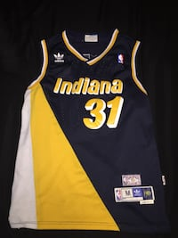 Reggie Miller #31 Indiana Pacers Navy Throwback 87-88 Mens Jersey