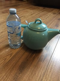Soft blue teapot