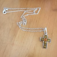 Green Amber Cross Necklace Los Angeles, 91606