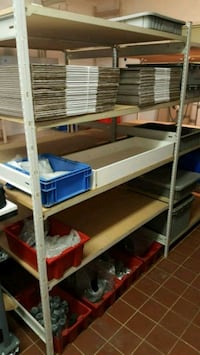 5 sections of ez-rect industrial racking/shelving