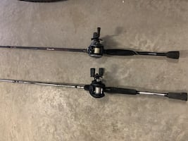Bait caster rods and tackle
