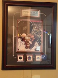 PATRICK ROY FRAMED NHL AUTOGRAPH WITH CERTIFICATE