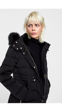 Black coat zara worn 2 times. No try ons. Excellent condition Westmount, H3Y 1W8