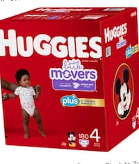 Huggies little movers size 4 180 ct