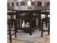 Price drop! Expandable Counter height table w/ wine storage racks and Lazy susan Philadelphia, 19107