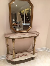 Mirror with matching table Mississauga, L5V 2B2