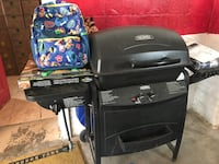 black outdoor gas grill