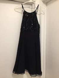 Black cocktail or prom dress with sequins Vienna
