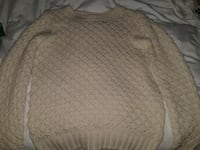Cream color knitted sweater