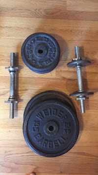 Two black and gray dumbbells Palatine, 60074