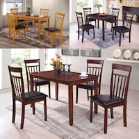 WOOD TABLE AND 4 CHAIRS!! BRAND NEW AVAILABLE IN 3 COLORS Clifton, 07013