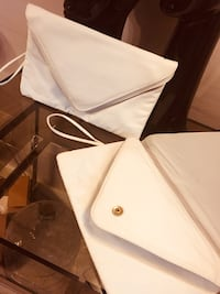 White Leather ladies clutch (2) New Quincy, 02169