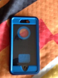 Blue and black iphone case