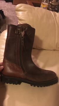 Brown leather mid-calf side-zip boot Nashville, 37209