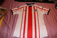 white and red Adidas jersey shirt St. Louis, 63116