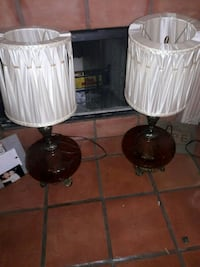 two white-and-brown table lamps Corpus Christi, 78414