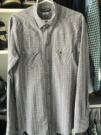 DOLCE & GABANNA GOLD LABEL White and black plaid button-up shirt for men Vancouver