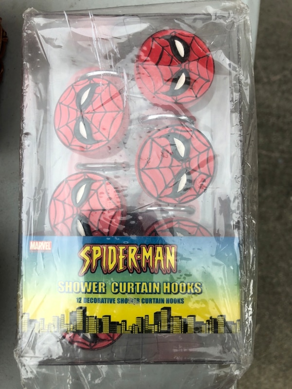 Used Spider Man Shower Curtain Hooks For Sale In Vallejo
