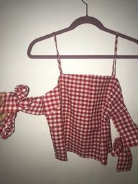 women's red and white spaghetti strap blouse Vancouver