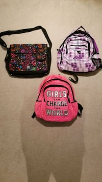 Choice of girl school backpack $5 each  North Potomac, 20878
