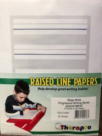 Therapro - Raised Line Papers Stage Write - 60 sheets San Diego, 92111