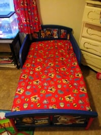Toddler girls & boys paw patrol beds