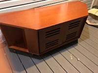 natural stain cherry wood entertainment center New York, 10306