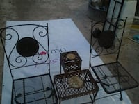 Folding wrought iron chairs and table Las Vegas, 89122