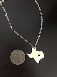 Necklace state Texas (stainless steel)