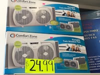 white and black Comfort Zone air cooler box New York, 11420