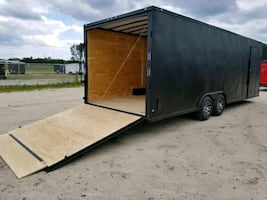 ENCLOSED VNOSE TRAILERS FREE DELIVERY 20 24 28 32 SNOWMOBILE MOTORCYCL
