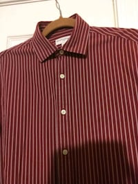 red and white stripe button-up shirt Falls Church