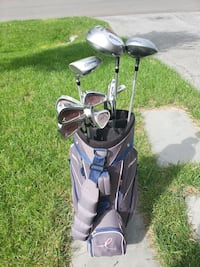 Black and gray golf bag with golf clubs Linganore, 21774