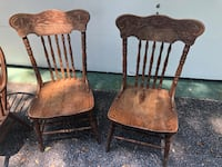 2  Solid oak highback chairs $15/each until I clean up Columbia, 21044