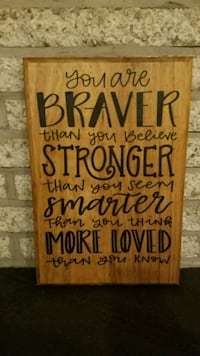 "Handmade wooden sign ""you are braver"" Frederick, 21703"