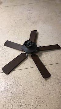 brown 5-blade ceiling fan Clermont