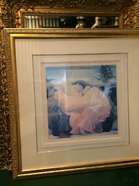 """The Flame"" Gorgeous greek print  in a stunning gold frame with detailed matting.  Boynton Beach"